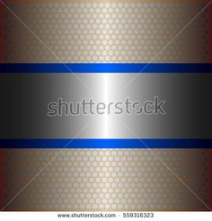 shiny silver metal with silver background.two shiny blur lines style.gold plate with hexagon holes style design