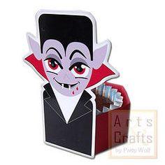 Forminha Vampiro. Projeto de corte no formato GSD, à venda nos sites: http://www.artscrafts.com.br/ e http://www.cortecrie.com.br/