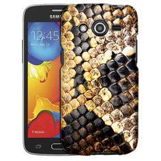Samsung Galaxy Avant Snake Fake Black Skin Slim Case