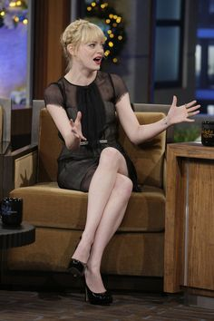 Emma Stone appears on The Tonight Show with Jay Leno: December 21, 2010.