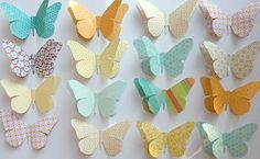 Beach Cottage Studio: Large Paper Butterflies - Party Decorations