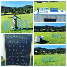 Naming ceremony set up in a park at Bonogin Gold Coast