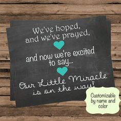 Customizable Pregnancy Announcement Hoped and by ForrFunPrints