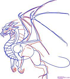 how to draw a dragon step by step step 5