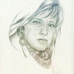 Tribal face - Monike Meurer. #drawing #drawingrealistic #girl #fashionIllustrator #illustration #vintage #art #instaart #tribal #facedrawing #sketching