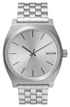 Think, minimalist. Love the simplicity of this sleek Nixon watch.