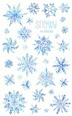 Watercolor winter clipart snowflakes by StarJamforKids Christmas Clipart, Christmas Paper, Christmas Crafts, Christmas Greetings, Christmas Holidays, Holiday Cards, Winter Cliparts, Diy Paper, Paper Crafts