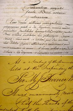 French Cursive Handwriting