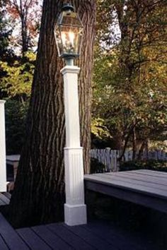 Wooden Lantern Posts custom made out of Western Red Cedar | New England Woodworks