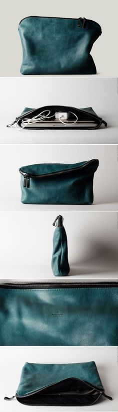 teal leather
