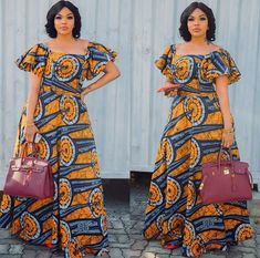 Beautiful Long Ankara Gowns that is in Vogue this remaining part of 2018 African Fashion Ankara, Latest African Fashion Dresses, African Print Fashion, Africa Fashion, African Attire, African Wear, African Women, Trendy Ankara Styles, Ankara Gown Styles