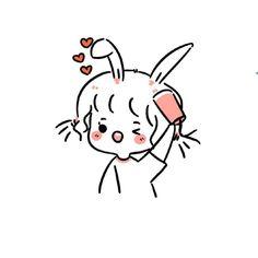 Kawaii Chibi, Kawaii Art, Kawaii Anime, Simple Anime, Simple Doodles, Daily Drawing, Anime Art Girl, Love Art, Cartoon Art