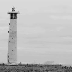 Lighthouse in jandia love black and white