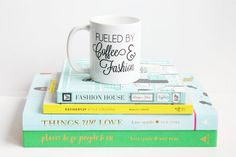 There are two things that are guaranteed to help me power through my day...coffee and fashion! I live and breathe fashion and coffee gives me the energy I need to work hard. So one might say that I am fueled by coffee and fashion! This mug is the perfect gift for any shopping addict, fashion lover, style and/or fashion blogger, and for the girl (or guy!) who owns too many shoes to count! (Click here to purchase your own mug from The Trendy Sparrow - $17)