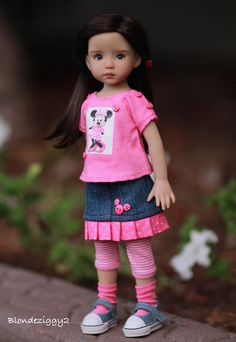 https://flic.kr/p/yaQf38 | Brooke Marie Loves Minnie | Brooke is wearing an adorable outfit made by the talented Trish. Brooke is an Dianna Effner Little Darling painted by Joyce Mathews.