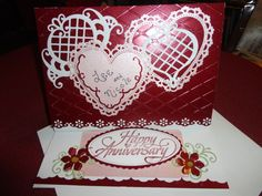 Anniversary easel card open.
