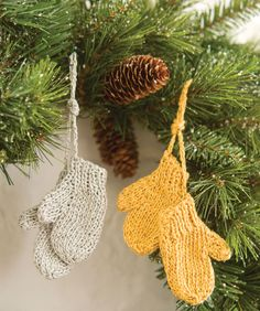 Mitten Ornaments, aww! freebie: thanks so xox