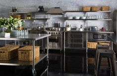 Stainless steel kitchen cabinets | Overhead Shelves | Drawers ...