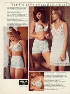 Another German one - a magazine this time? Lingerie Catalog, Vintage Lingerie, Shapewear, Two Piece Skirt Set, Feminine, Female, Sexy, How To Wear, Clothes
