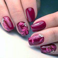 and Beautiful Nail Art Designs Trendy Nail Art, Nail Art Diy, Stylish Nails, Fancy Nails, Pretty Nails, Cute Nails, Fingernail Designs, Toe Nail Designs, Purple Nails