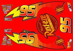 Lightning McQueen 95 Edible Sticker to Decorate Car Cake Cake Topper Birthday for sale online Lighting Mcqueen Cake, Pool Table Cake, Flash Mcqueen, Lightening Mcqueen, Car Themed Parties, Cake Templates, Disney Cars Party, Cake Logo, Fondant Decorations