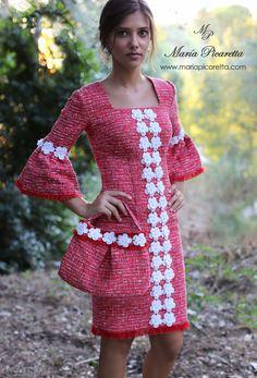 New dress pattern vintage new looks Ideas Trendy Dresses, Short Dresses, Fashion Dresses, Chanel Vestidos, Style Hijab Simple, New Dress Pattern, Vintage Dress Patterns, Sewing Patterns, Jackets For Women