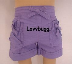 Purple Shorts Fits American Girl Bitty Baby Doll Easy Clothes Discount Deal | eBay