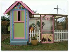 bright colored chicken coop - Google Search