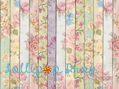 Vintage Floral  #lollipopdropshoppe #backdrops #floordrops