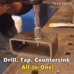 homemade tools Screw Tap Drill Bit Set (Set of Metal Working Tools, Metal Tools, Work Tools, Homemade Tools, Diy Tools, Armoire Garage, Bit Set, Garage Tools, Garage Workshop