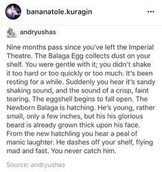 Balaga egg shaker great comet hatching