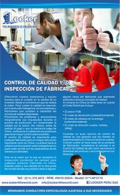 CONTROL DE CALIDAD Y/O INSPECCIÓN DE FÁBRICA.