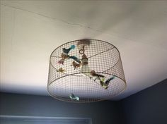 Wire mesh lamp shades lamps lighting pinterest wire mesh diy lampshade i like the wire mesh idea greentooth Images