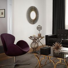 Atelier - Eclectic - Glass-top coffee table with metal legs/COFFEE TABLE/ACCENT TABLES/ATELIER BOUCLAIR|Bouclair.com