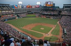 Rangers Ballpark - Texas Rangers. Oh yes . . .this is one of my alltime favorite places.