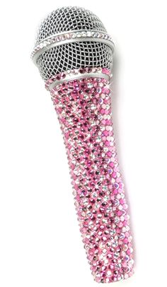 Microphones Collection Here Njs Silver Crystal Bling Dazzling Effect Karaoke Party Home Microphone Mic Beautiful And Charming Musical Instruments & Gear
