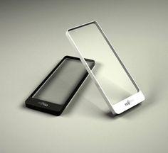 Fujitsu Brick,  futuristic, device, Transparent Smartphone, future, Ultra Portable PC, tech, gadget, technology, Shaocheng Huang, Yuyin Huang, concept, innovation, unique,