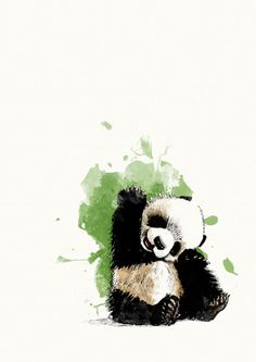 Panda Bear by Sandy Rowley on Etsy
