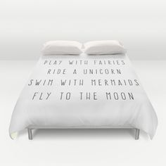 Play With Fairies Funny Quote Duvet Cover
