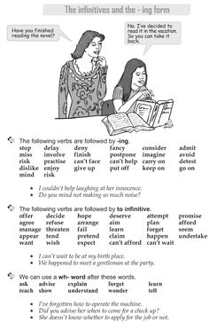 Grade 9 Grammar Lesson 45 The infinitives and the -ing form