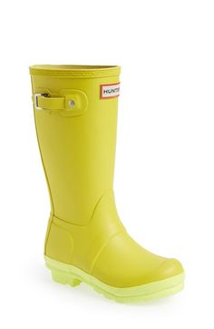 Hunter 'Original Contrast Sole' Waterproof Rain Boot (Toddler, Little Kid & Big Kid) available at #Nordstrom