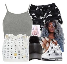 """""""*Twerks*"""" by uniquee-beauty ❤ liked on Polyvore featuring Topshop, MCM and NIKE"""