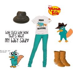 Perry The Platypus Costume. :D, created by nessa30 on Polyvore  Doo bee doo bee doo bah