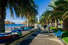 Take a walk along the seafront promenade of Santa Cruz , in the eastern part of the island. Place : Santa Cruz , Madeira - Portugal