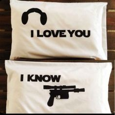 Star Wars I Love You I Know Pillow Cases