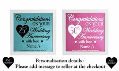 Vinyl sticker DIY Box Frame WEDDING ANNIVERSARY - 25th 50th any number available #Unbranded