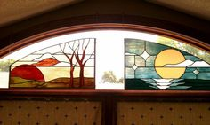Untitled - Delphi Stained Glass. Love the panel on the right.
