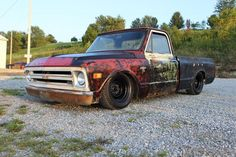 1968 Chevrolet C-10 on air ride, something I want on a few of my future cars.
