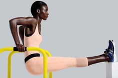Derek Lam 10C X Athleta's spring collection includes bold colors, fitness capes, and leather