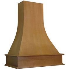Range Hoods - Artisan Curved Wall Mounted Wood Range Hood by Omega National Wooden Range Hood, Chimney Range Hood, Wall Mount Range Hood, Curved Wood, Curved Walls, Four Square Homes, Kitchen Vent Hood, Buy Wood, Range Hoods